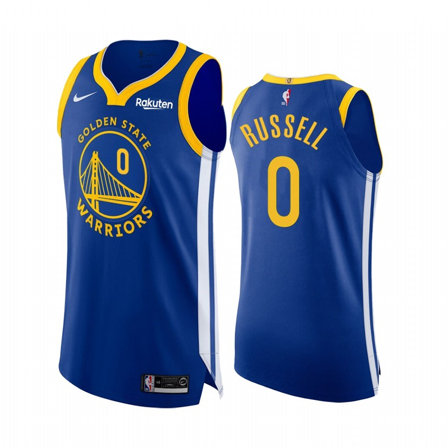 Acquista Sconto Maglia NBA Nike Golden State Warriors NO.0 D'Angelo Russell Blu Icon Edition
