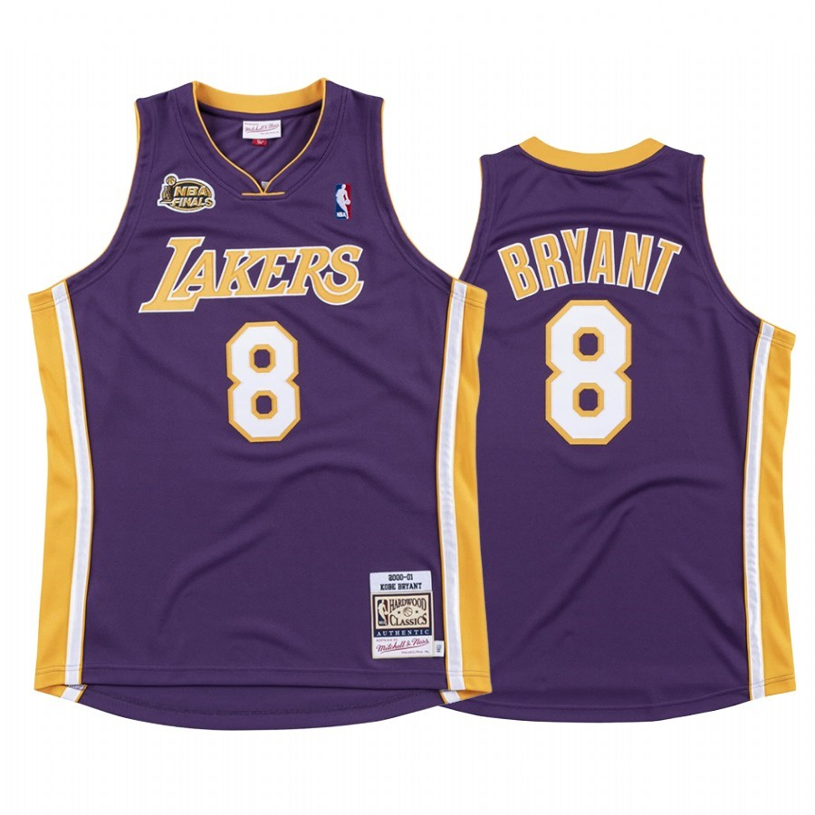 Acquista Sconto Maglia NBA Nike Los Angeles Lakers NO.8 Kobe Bryant Pourpre 2000 01