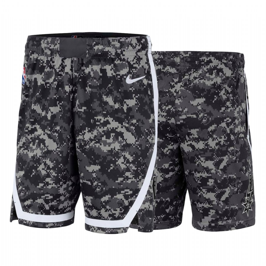 Acquista Sconto Pantaloni Basket San Antonio Spurs Nike Nero