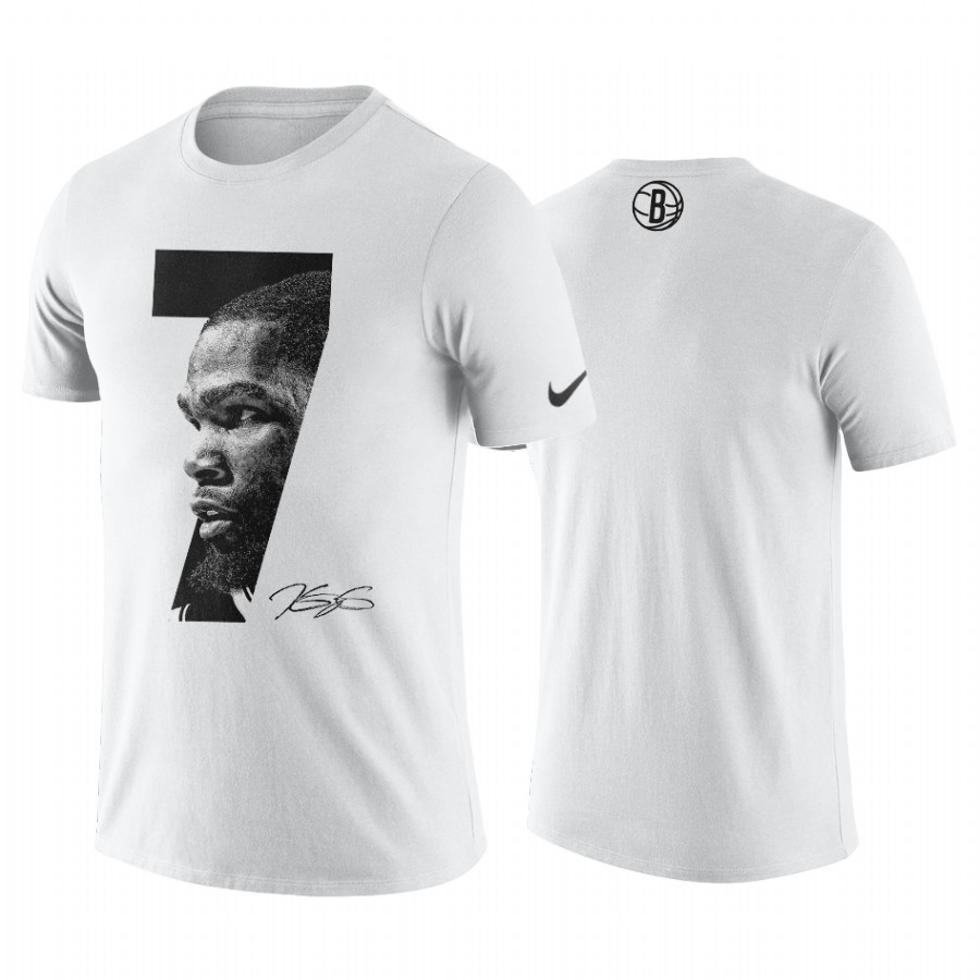 Acquista Sconto T-Shirt Brooklyn Nets Kevin Durant Bianco
