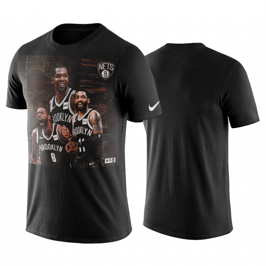 Acquista Sconto T-Shirt Brooklyn Nets Kyrie Irving Nero