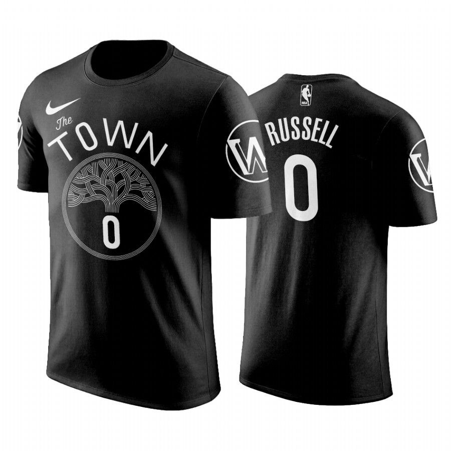 Acquista Sconto T-Shirt Golden State Warriors D'Angelo Russell Nero