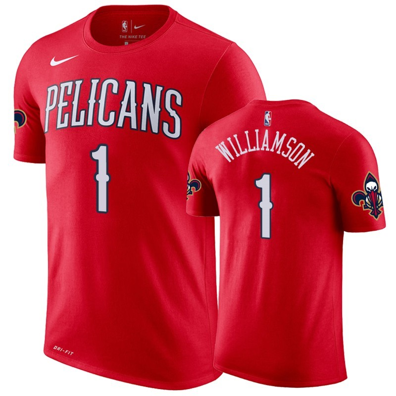Acquista Sconto T-Shirt New Orleans Pelicans Zion Williamson Rosso Statement