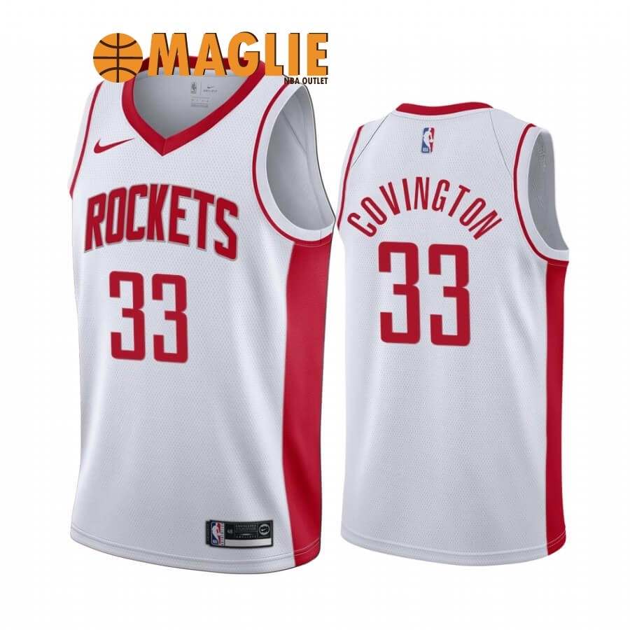 Acquista Sconto Maglia NBA Nike Houston Rockets NO.33 Robert Covington Bianco Association 2019-20