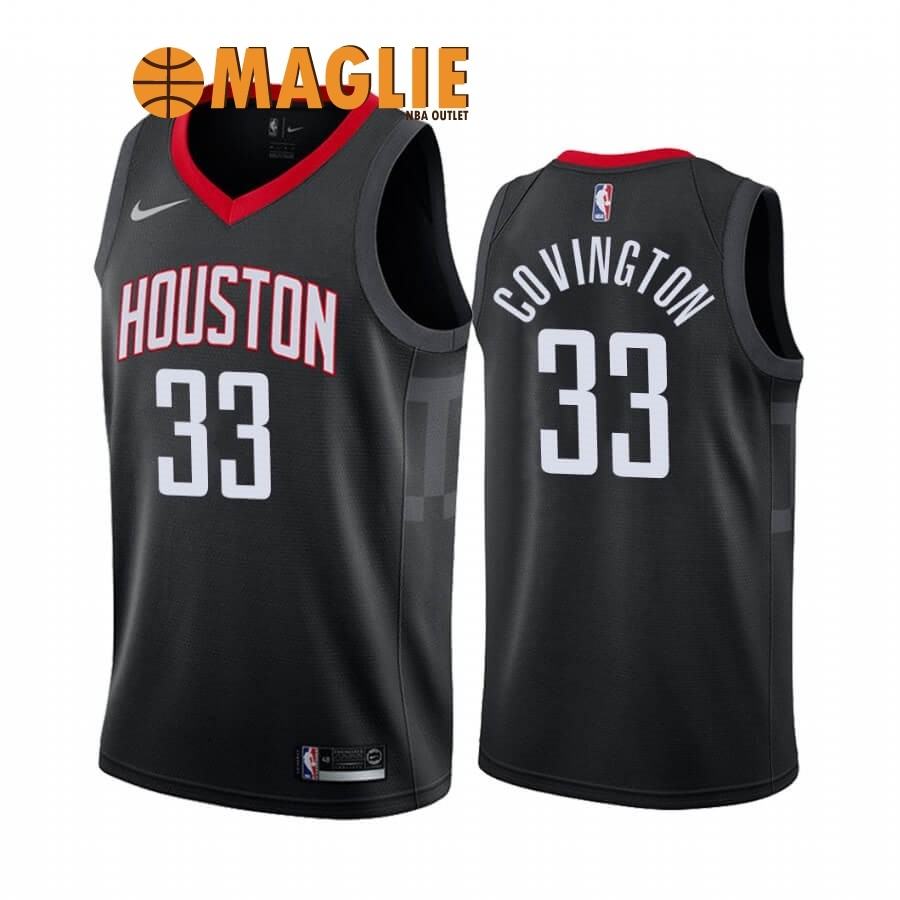 Acquista Sconto Maglia NBA Nike Houston Rockets NO.33 Robert Covington Nero Statement 2019-20
