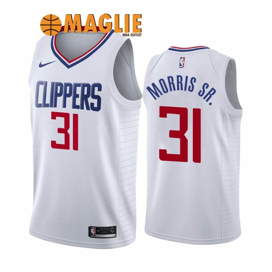 Acquista Sconto Maglia NBA Nike Los Angeles Clippers NO.31 Marcus Morris Sr. Bianco Association 2019-20