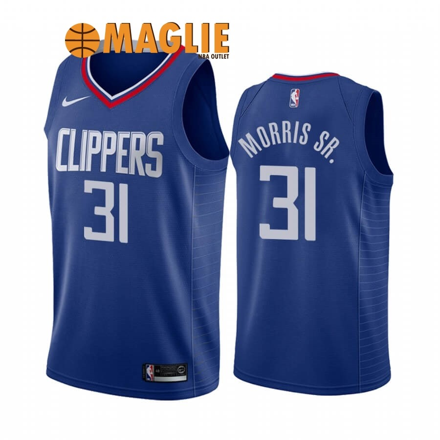 Acquista Sconto Maglia NBA Nike Los Angeles Clippers NO.31 Marcus Morris Sr. Blu Icon 2019-20