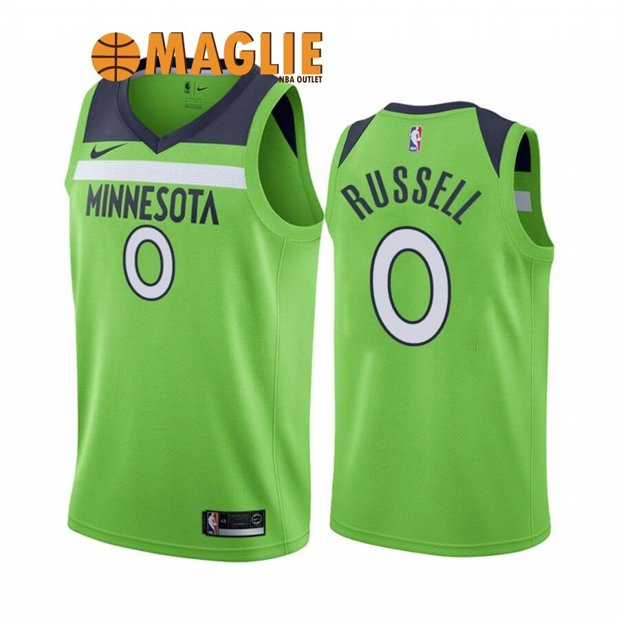 Acquista Sconto Maglia NBA Nike Minnesota Timberwolves NO.0 D'angelo Russell Verde Statement 2019-20
