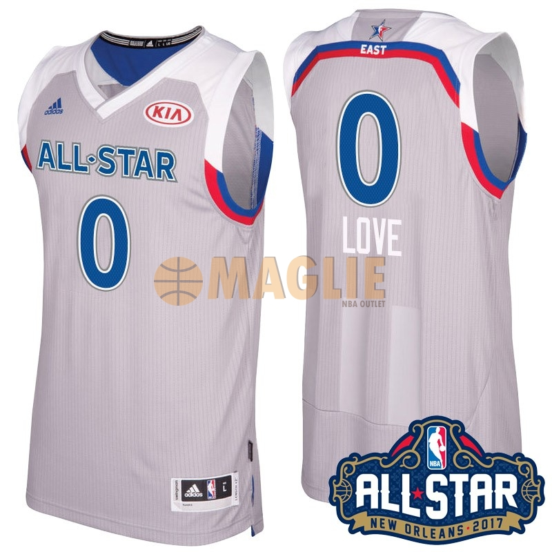 Acquista Sconto Maglia NBA 2017 All Star NO.0 kevin love Gray