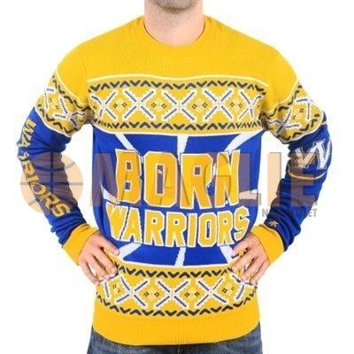 Acquista Sconto Maglione Ugly Unisex Golden State Warriors Giallo