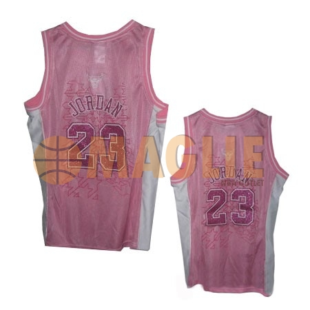 Acquista Sconto Maglia NBA Donna Chicago Bulls NO.23 Michael Jordan Rose