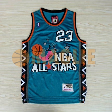 Acquista Sconto Maglia NBA 1996 All Star NO.23 Michael Jordan Blu