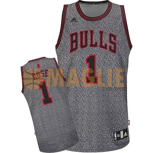 Acquista Sconto Maglia NBA 2013 Fashion Statico Chicago Bulls NO.1 Rose