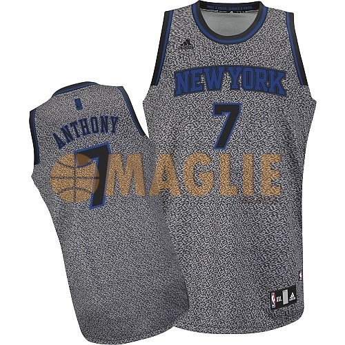 Acquista Sconto Maglia NBA 2013 Fashion Statico New York Knicks NO.7 Anthony
