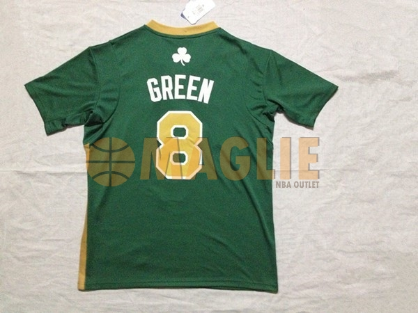 Acquista Sconto Maglia NBA Boston Celtics Manica Corta No.8 Jeff Green Verde
