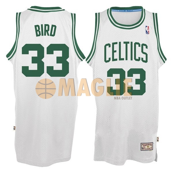 Acquista Sconto Maglia NBA Boston Celtics No.33 Larry Joe Bird Bianco