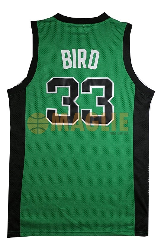 Acquista Sconto Maglia NBA Boston Celtics No.33 Larry Joe Bird Verde Nero