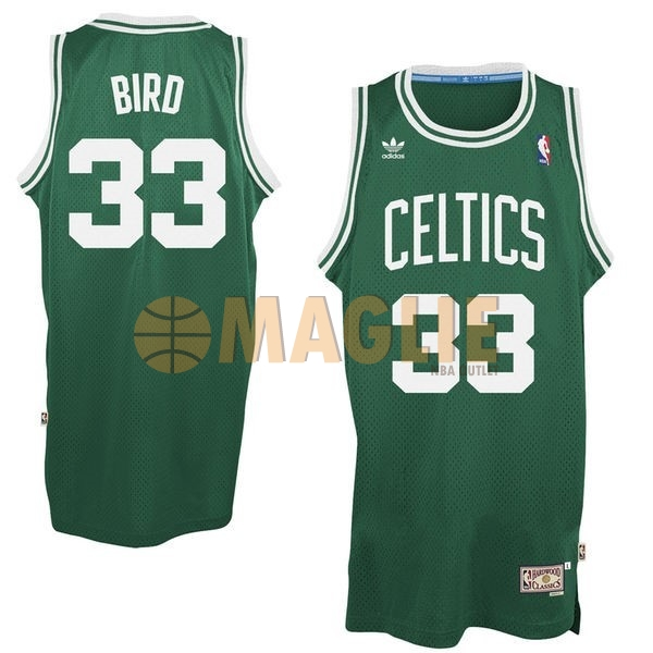 Acquista Sconto Maglia NBA Boston Celtics No.33 Larry Joe Bird Verde