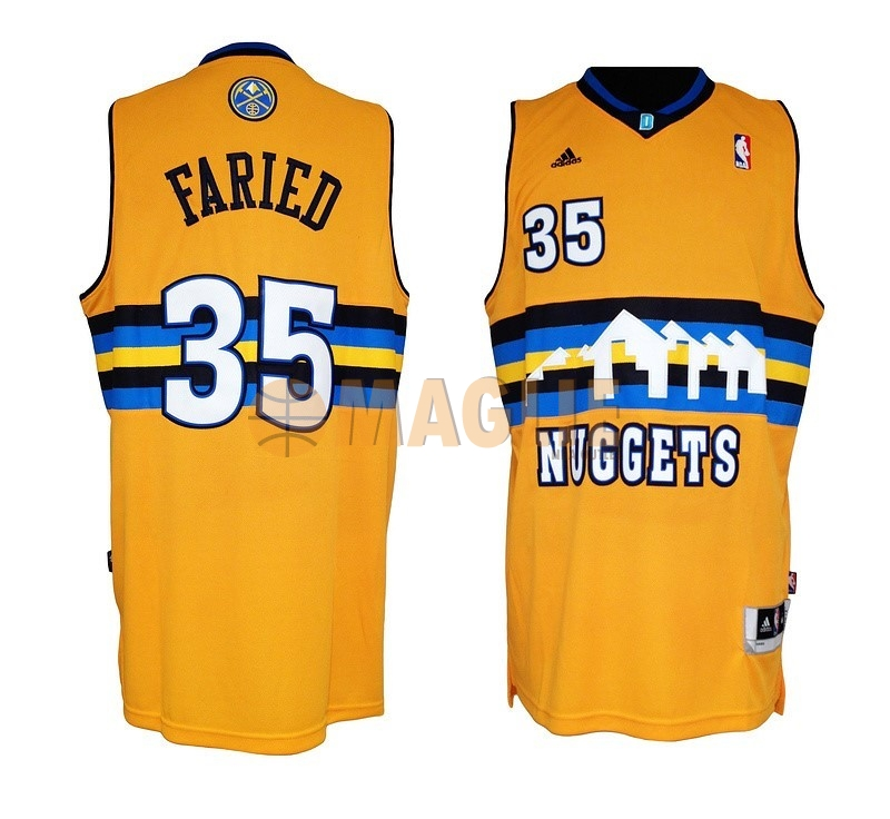 Acquista Sconto Maglia NBA Denver Nuggets NO.35 Kenneth Faried Giallo