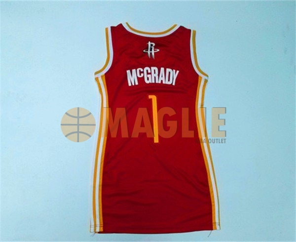 Acquista Sconto Maglia NBA Donna Houston Rockets NO.1 Tracy McGrady Rosso