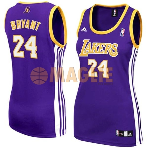 Acquista Sconto Maglia NBA Donna Los Angeles Lakers NO.24 Kobe Bryant Porpora