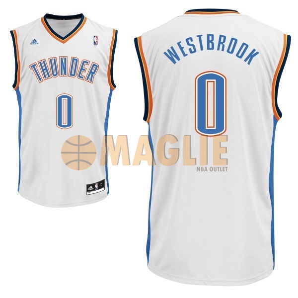Acquista Sconto Maglia NBA Oklahoma City Thunder NO.0 Russell Westbrook  Bianco 49a3f1964a05