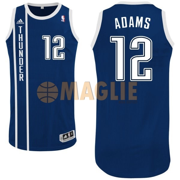 Acquista Sconto Maglia NBA Oklahoma City Thunder NO.12 Steven Adams Retro Blu