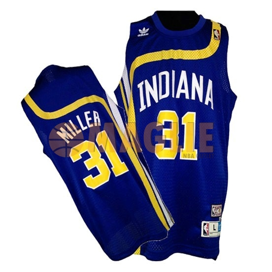 Acquista Sconto Maillo ABA Indiana Pacers NO.31 Miller Blu