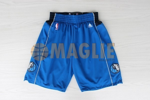 Acquista Sconto Pantaloni Basket Dallas Mavericks Blu