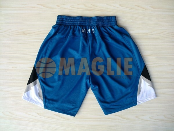 Acquista Sconto Pantaloni Basket Minnesota Timberwolves Blu
