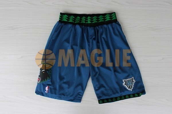Acquista Sconto Pantaloni Basket Minnesota Timberwolves Retro Blu