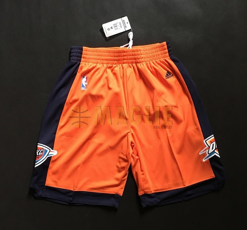 Acquista Sconto Pantaloni Basket Oklahoma City Thunder Arancia