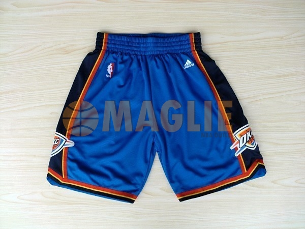 Acquista Sconto Pantaloni Basket Oklahoma City Thunder Blu