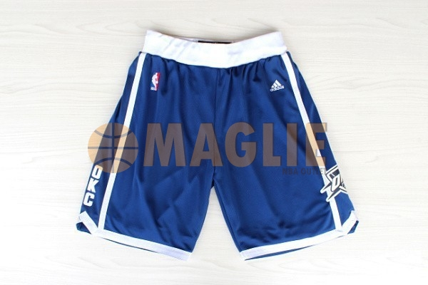 Acquista Sconto Pantaloni Basket Oklahoma City Thunder Retro Blu