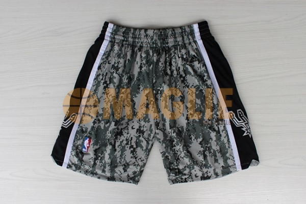 Acquista Sconto Pantaloni Basket San Antonio Spurs Verde