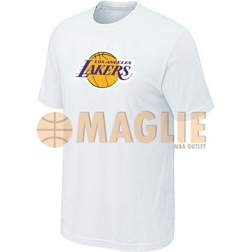 Acquista Sconto T-Shirt Los Angeles Lakers Bianco