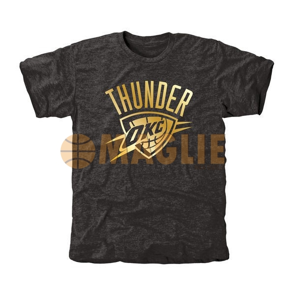 Acquista Sconto T-Shirt Oklahoma City Thunder Nero Oro